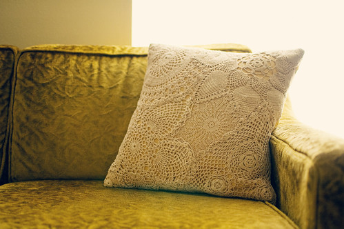 the doily pillow