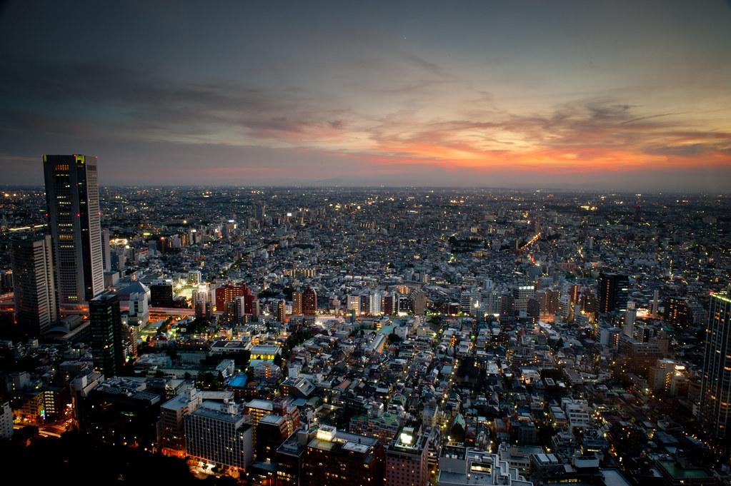 Fuji by night without Fuji...