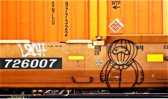 Lech - ? (mightyquinninwky) Tags: railroad train graffiti character tag graf tracks railway tags tagged railcar rails graff graphiti freight hollow hollows lech trainart rollingstock paintedtrain fr8 flatcar railart stacker intermodal spraypaintart reflectivetape freightcar movingart nofill paintedsteel highcube freightart dttx paintedrailcar paintedfreight taggedrailcar taggedfreight 11223344556677 carfireonflickr charactersformyspacestation