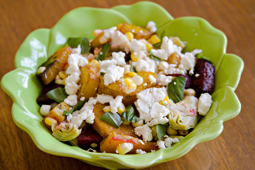 Roasted Beet, Artichoke, and Sweet Corn Salad - 3