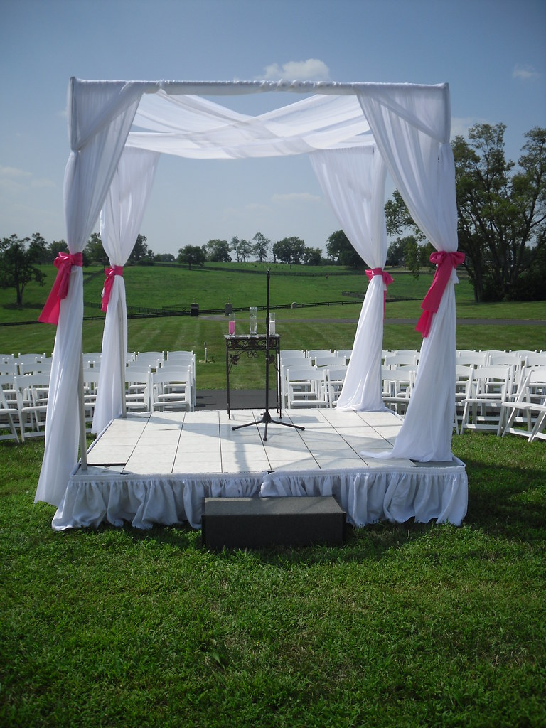 Wedding stage and canopy