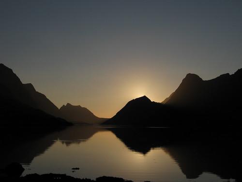 Sunset gryllefjord