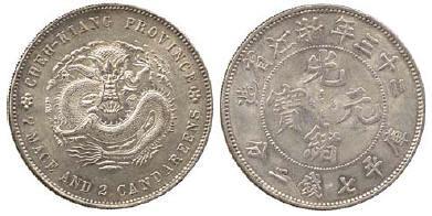 1897 Chekiang Province Year 23 Silver Pattern Dollar
