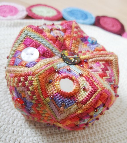 15 sided canvaswork pincushion