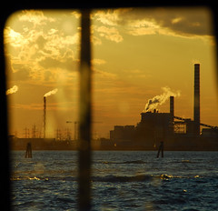 industrial sunset (montel7) Tags: sunset tramonto smoke pollution chimneys industries fumo ciminiere marghera inquinamento creattivit artofimages bestcapturesaoi mygearandmepremium