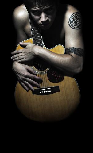 フリー写真素材, 人物, 男性, ギター,