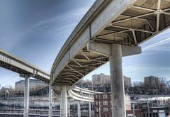 Lewis & Clark Viaduct (Cassaw [Creative]) Tags: road architecture bride pillar kansascity hdr lewisclark
