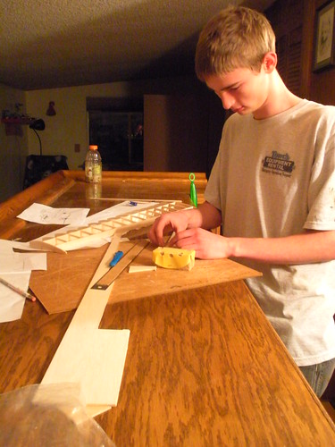 Working on building RC plane Wing