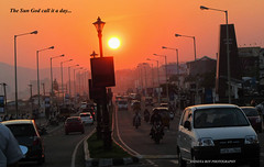The Sun God has call it a day.. (Anindya Roy Photography (catching up)) Tags: sunset india nature canon vizag andhrapradesh visakhapatnam