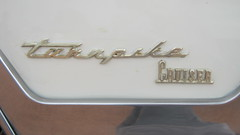 Turnpike Cruiser Emblem (blondygirl) Tags: auto car mercury sa sprucegrove turnpikecruiser showshine mercuryturnpikecruiser cruisersofthepast grovecruise 2010grovecruise