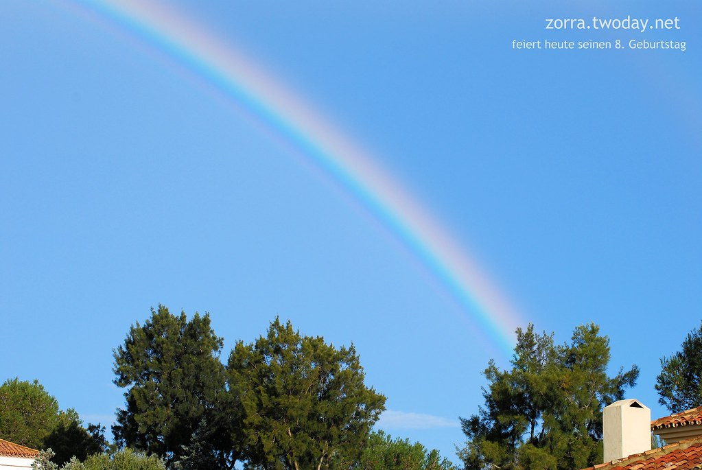 Regenbogen zum 8. Blog-Geburtstag