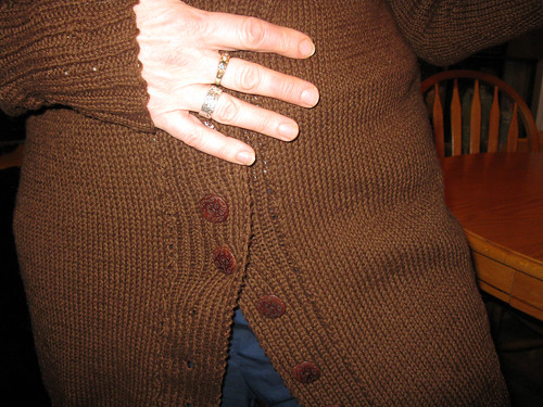 Mum's Cardigan - done!