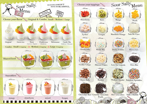 Sour Sally Menu
