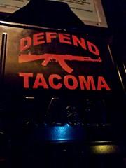 Defend Tacoma (Vorona Photography) Tags: seattle usa kitchen rock mailbox america washington punk downtown industrial state pacific live united rifle goth ak assault nightclub entertainment bands weapon violence rockabilly americana guns nightlife tacoma states avenue ak47 hells kalashnikov