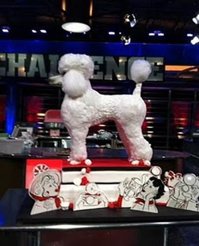 Food Network winning entry - The Poodle takes the cake! ; )