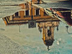 Dopo la pioggia: il Municipio (Fabio Pratali LI) Tags: livorno riflessi rain pozzanghere