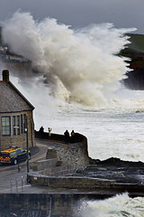 DIRECT HIT (midlander1231) Tags: porthlevenstorms porthleven bigwaves cornwall storm stormy stormyseas waves shore shoreline beach cliffs winter winterstorms nature