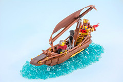 Kings wind seeker (Milan Sekiz) Tags: lego boat blue custom king fantasy sails water