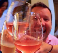 Looking Through Rosé Wine Glasses (billrock54) Tags: lisbon portugal wine rosé