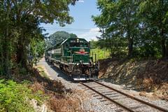 Cottonville Cut (ajketh) Tags: acwr aberdeen carolina western freight grain train railroad emd sd403 cut cottonville charlotte nc north 100 6919