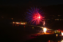 54 (morgan@morgangenser.com) Tags: pacificpalisaddes beach belairbayclub blue celebrate fireworks color iso100 july3rd loud nikon night ocean orange pch people red reflection special spectacular streaks timeexposire tripod yellow amazing