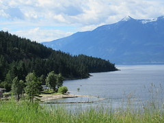 A small bay (trilliumgirl) Tags: kootenay lake bc british columbia canada blue sky water green trees bay