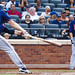 Michael Cuddyer Looks at Justin Morneau whiff