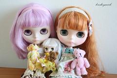 Dolls with their dolls