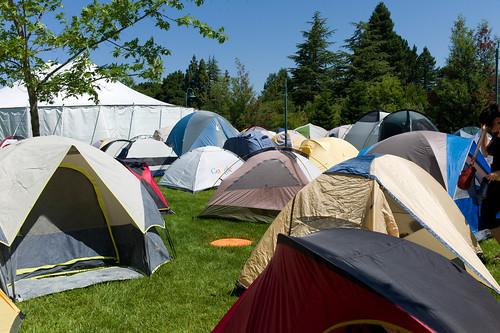 Foo Camp tents
