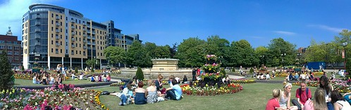 Queen's Gardens Flower Circus Panorama by DavidRGilson