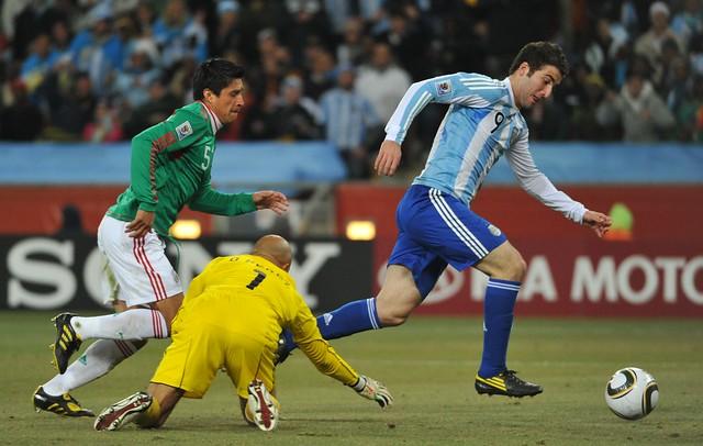 Mundial Sudáfrica Argentina México Gonzalo Higuaín