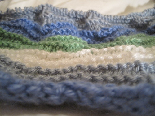 Ocean Ripple Blanket Closeup