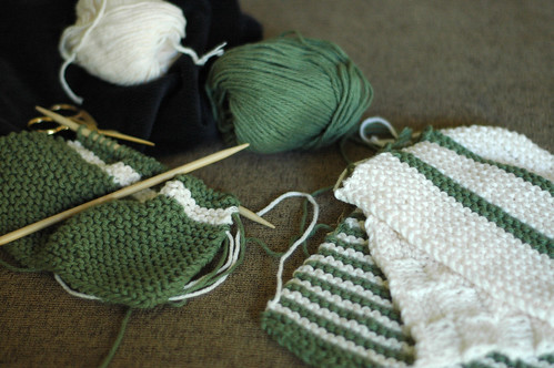 Weekending: Facecloth Knitting
