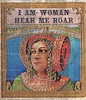 I AM WOMAN - ROAR! (ms_mod) Tags: pink red woman art collage female vintage paper print antique turquoise mixedmedia ephemera warrior feminism etsy roar layla feminist ledgerpaper dollfacedesign