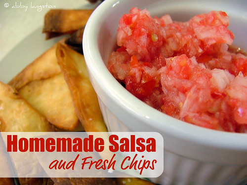 Homemade Salsa and Fresh Chips