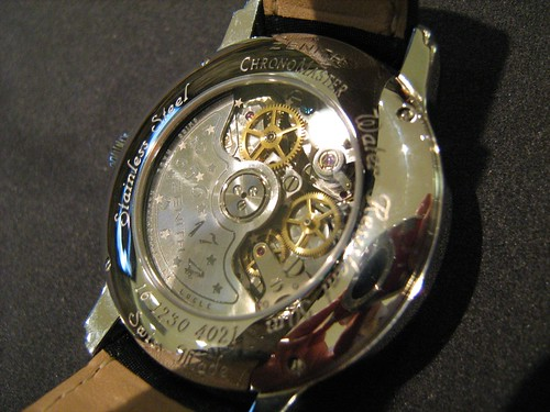 Zenith El-Primero Open Heart open back view of Movement