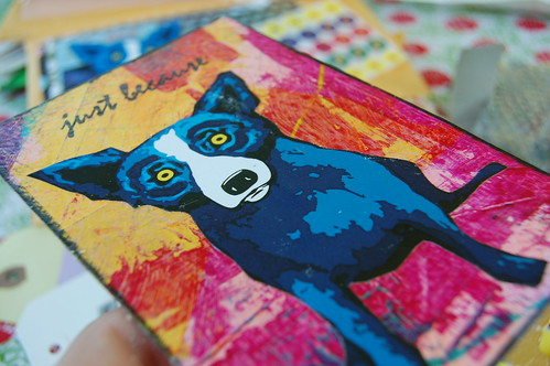 Blue dog Postcard