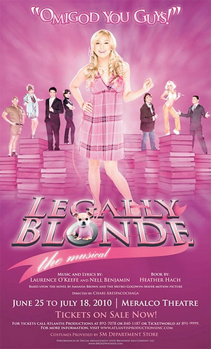 Legally Blonde the Musical Philippines Poster