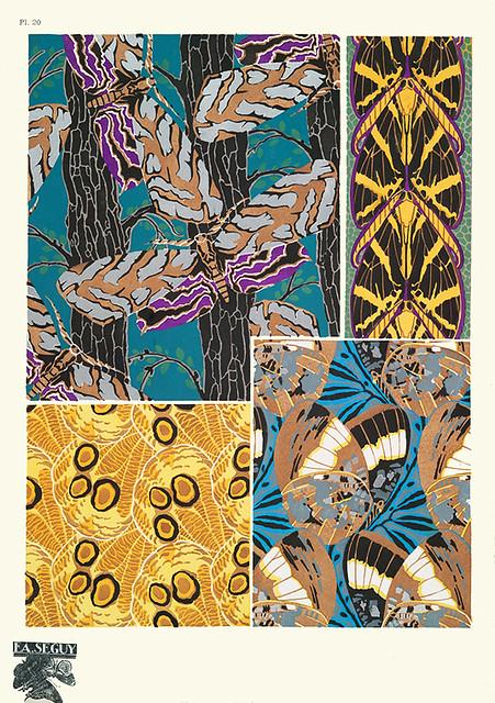 010-Composiciones decorativas-Papillons vingt planches en phototypie coloriees..1928- Eugene Alain Seguy