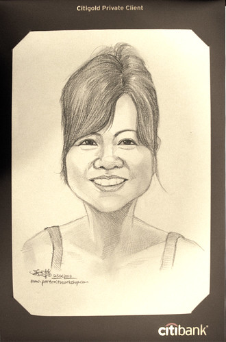 Portrait & caricature live sketching for Citigold Private Client 23 June 2010 - 5