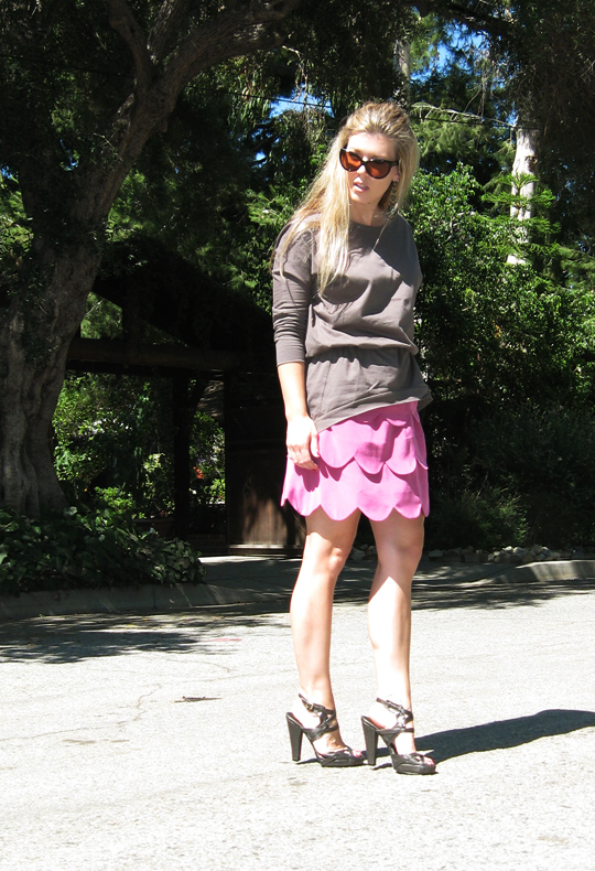 AKA NY scallop dress+Juma+Calvin Klein shoes-2