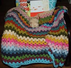 Granny Stripe Blanket (jennbennstar) Tags: crochet stripe blanket granny