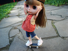 Olha me!! Eu consegui! (Bruna Lacrout ) Tags: doll alice skate blythe bangs custom aniversrio umano cuthair rbl takaratomy divero primadolly ixtee winsomewillow pdww
