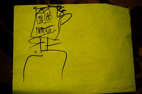 house face, i drew this super faded