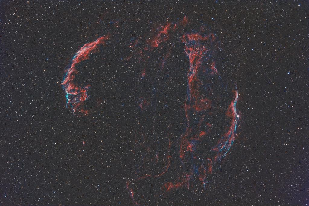 Veil nebula complex in Cygnus