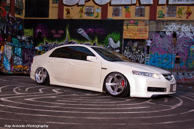 Slammed Acura Tl White With Euroline Type Wheels Tristatetuners