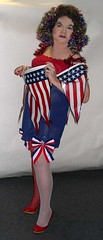 Red, white and blue...Holiday (Sugarbarre2) Tags: show woman usa baby hot girl leather mom high nikon july mini s babe celebration mature wife heels fishnets granny pinup 2010 sheer