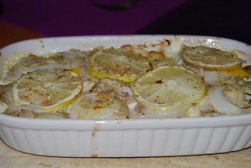 visschoteltje en nieuwe aardappeltjes