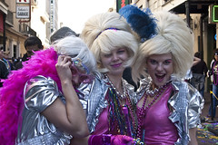 New Orleans, Mardi Gras 2010 (Natalie_Placek) Tags: carnival party neworleans bodypaint parade celebration masks frenchquarter lousiana drummer bourbonstreet mardigras float sequins paradefloat
