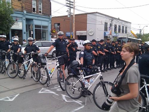 Police raid in Parkdale